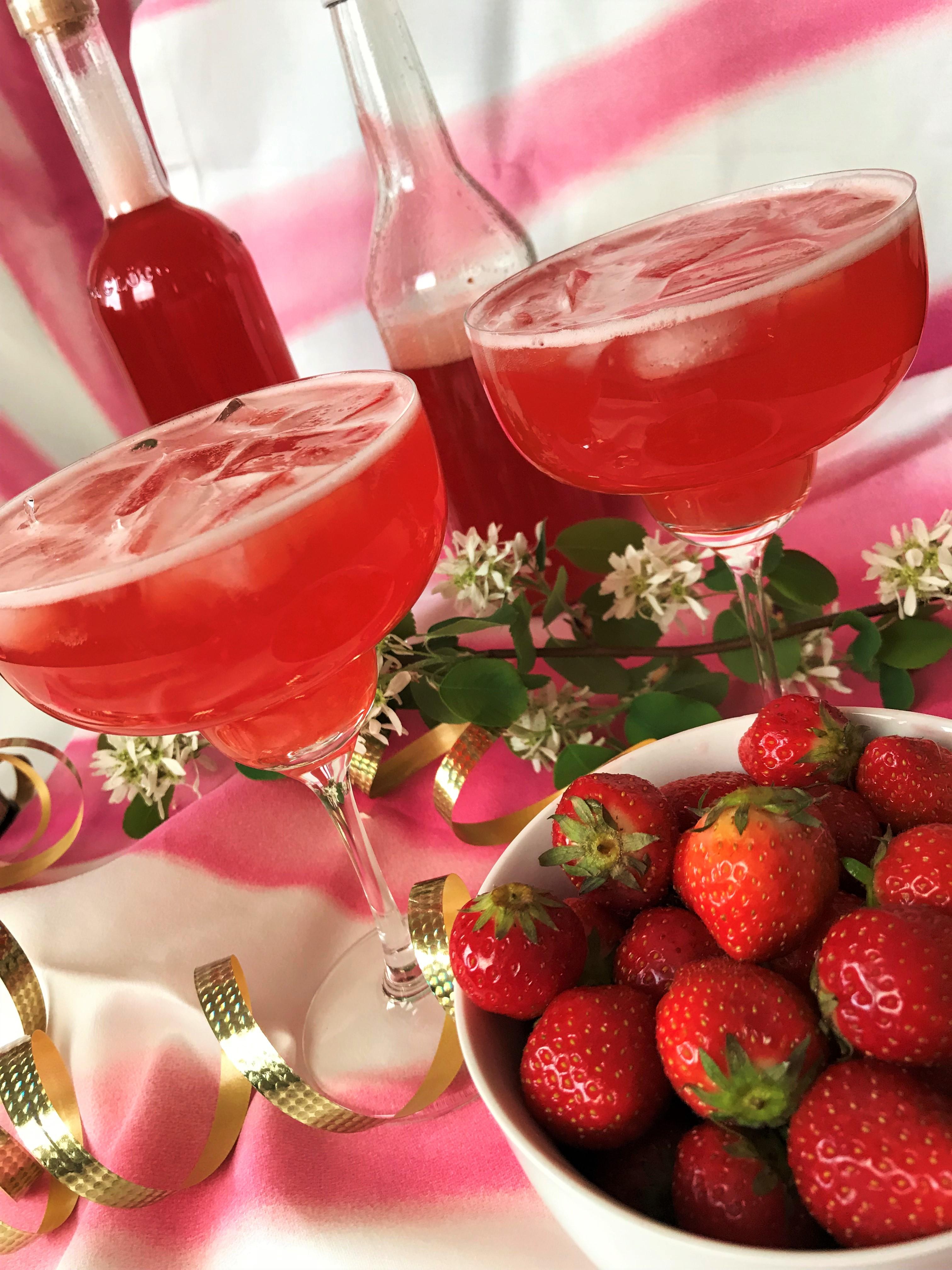 rabarber jordgubb drink matmedsofie